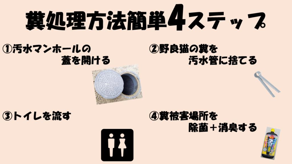 糞処理方法簡単4ステップ
